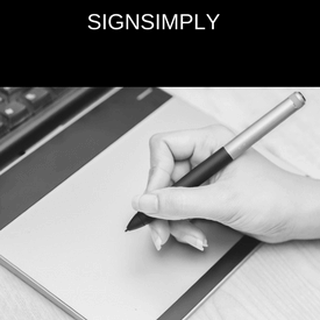 Electronic signature software, simplysign by Alpharesponse